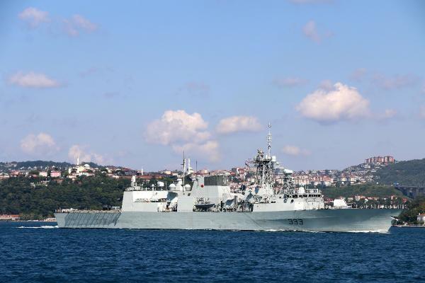NATO savaş gemisi Karadeniz'den ayrıldı