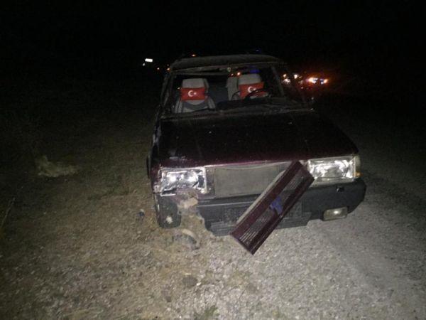 Kütahya'da otomobil yayalara çarptı