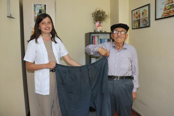 Amasya'da çocuklarına inat 41 kilo verdi
