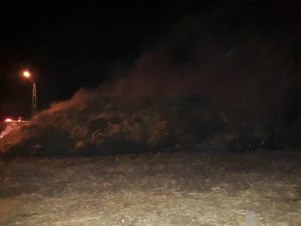 Adıyaman'da 50 ton saman yanarak kül oldu