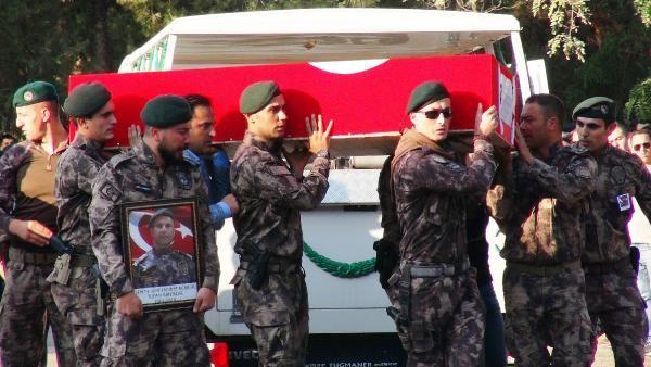 Şehit Özel Harekat Şube Müdürü'nün cenaze töreni
