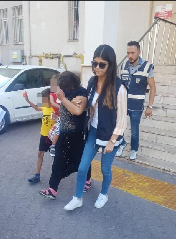 Kayseri'de hırsız, çocuklarıyla cezaevine gönderildi