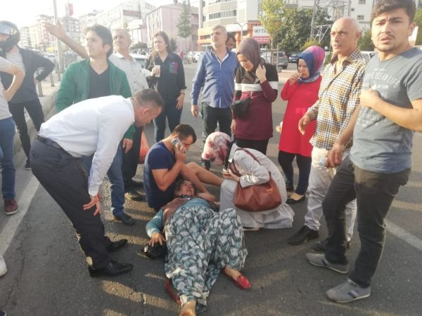 Yaralı kadın hastane yolunda ikinci kez kazadan kurtuldu