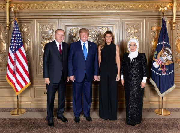 Erdoğan, Trump tarafından verilen resepsiyonda