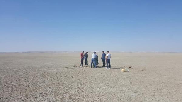 Konya'da toprağa gömülü erkek cesedi bulundu