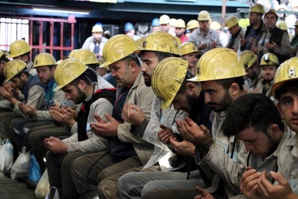 Maden işçileri Mehmetçik için dua edip kurban kesti