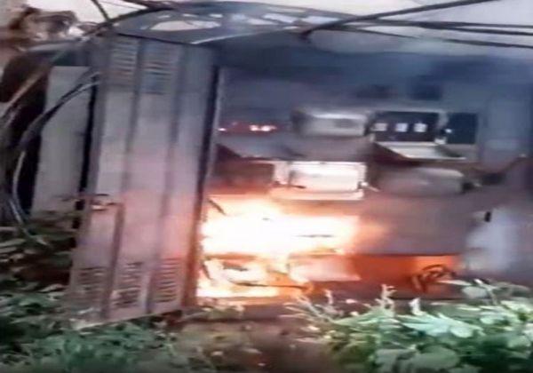 Elektrik işçisi çalışırken trafo patladı -1