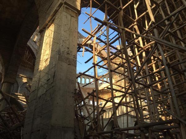 Cami inşaatında çökme: 1 işçi enkaz altında kaldı (1) -3
