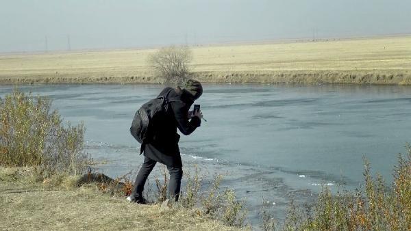 Kura Nehri'nin yüzeyi buz tuttu -9