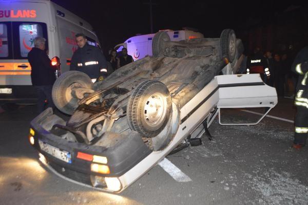 TIR'la çarpışan otomobildeki 6 kişi yaralandı -4