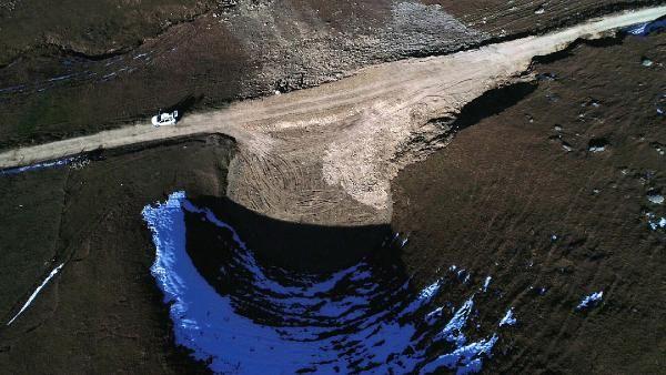 Dipsiz Göl'ün eski haline dönmesi için kar bekleniyor -3