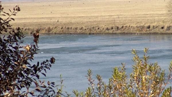 Kura Nehri'nin yüzeyi buz tuttu -8