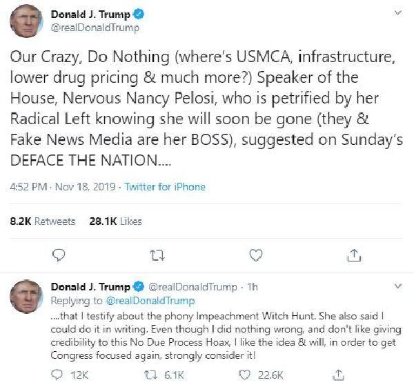 Trump: İfade vermeyi düşünüyorum -1