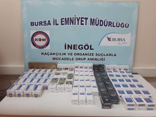 Bursa'da 70 kilo kaçak tütün ve 300 paket kaçak sigara ele geçirildi -1