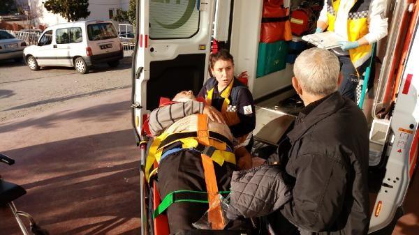 Kümesin çatısından düşerek yaralandı -2