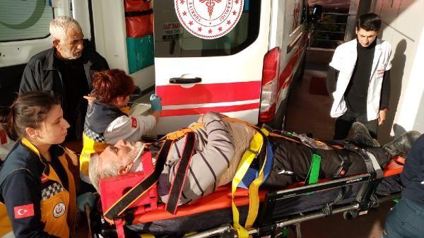 Kümesin çatısından düşerek yaralandı -1