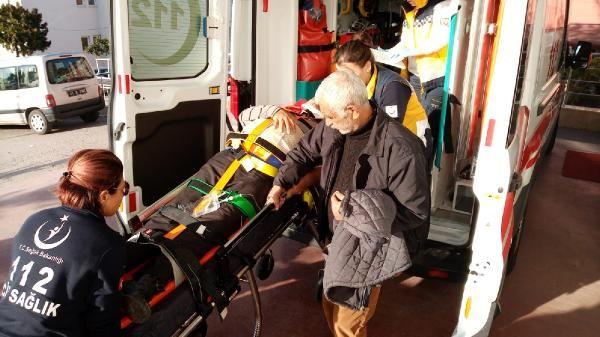 Kümesin çatısından düşerek yaralandı -3