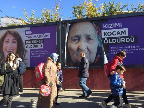 Küçükçekmece sokaklarına asılan afişlere tepki -2