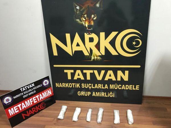 Tatvan'da metamfetamin maddesi ele geçirildi -1