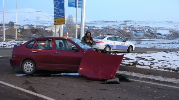 Ardahan'da trafik kazası: 4 yaralı -7