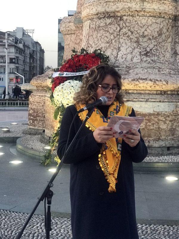 Türk tarihinin ilk kadın mitinginin yüzüncü yılı Taksim'de kutlandı -4