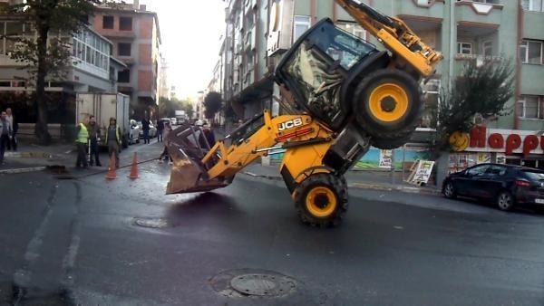 Kepçeyle 'akrobatik' hareket yapan operatöre ceza -5
