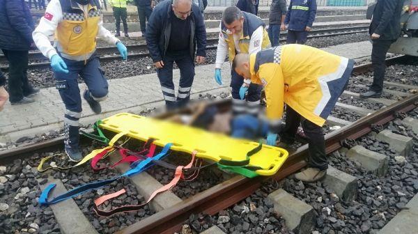 Tren raylarında feci kaza: 1 ölü -1