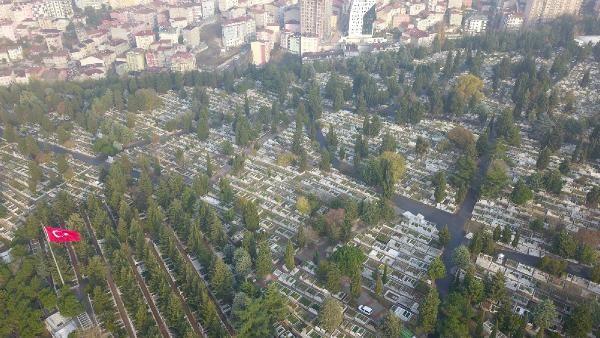 (havadan fotoğraflarla) İSTANBUL'DA MEZAR YERLERİNE ZAM -4