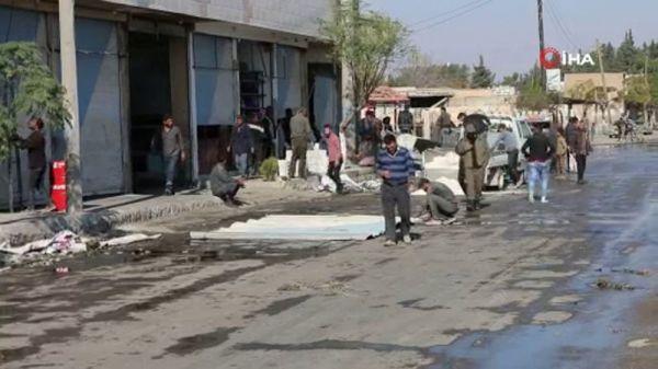 Tel Abyad'da siviller dükkan ve evlerini tamir etti -1