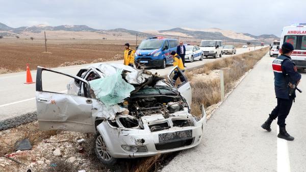 Cenaze dönüşü kaza: 1 ölü, 4 yaralı -2