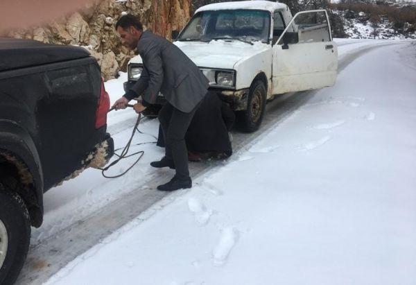 Antalya'da karda mahsur kalan vatandaşlar kurtarıldı -5