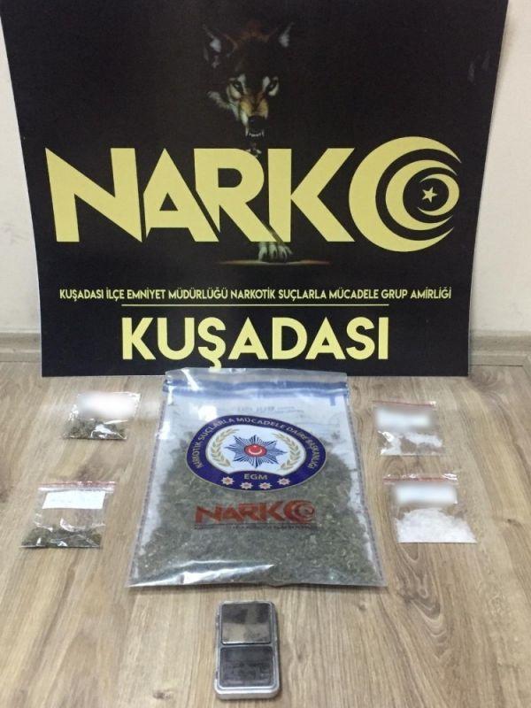 Kuşadası'nda uyuşturucu operasyonu -1