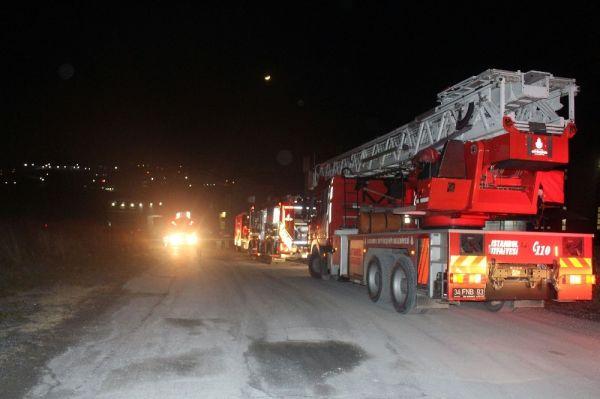 Hadımköy'de fabrika yangını