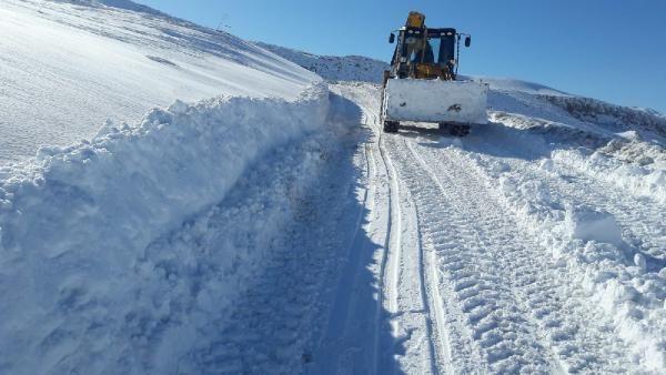 Siirt'te kardan kapanan 32 köy yolu ulaşıma açıldı -4