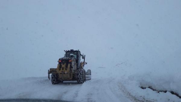 Siirt'te kardan kapanan 32 köy yolu ulaşıma açıldı -1