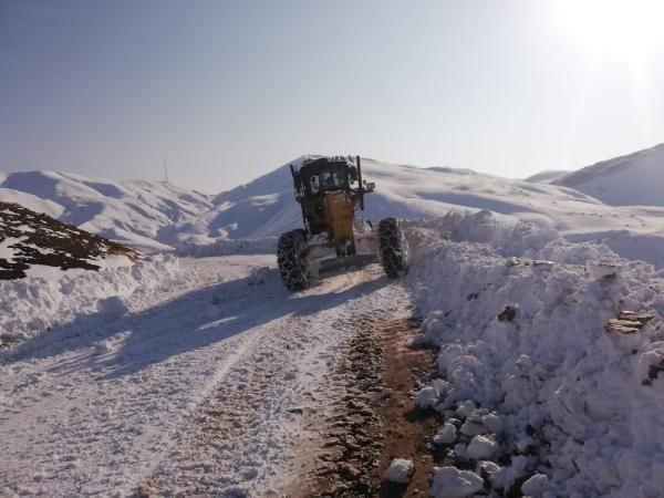 Siirt'te kardan kapanan 32 köy yolu ulaşıma açıldı -3