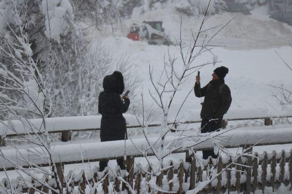 Abant'ta kar kalınlığı 1 metreyi buldu -7