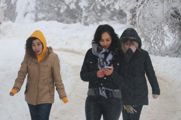 Abant'ta kar kalınlığı 1 metreyi buldu -6