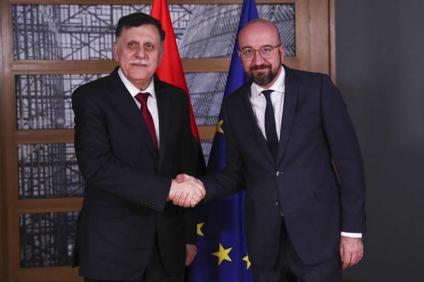 AB Konseyi Başkanı Michel, Libya Başbakanı al-Sarraj ile görüştü -1