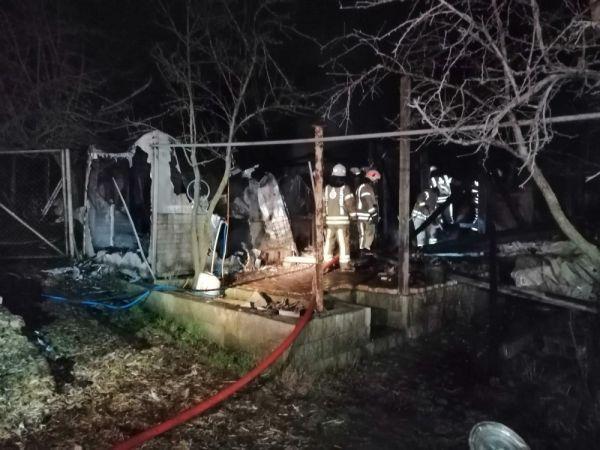 Beykoz'da bir çiftlikte yangın