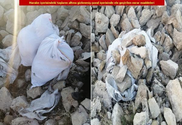 Lice'de, yastık kılıfı ve poşetlerde 62 kilo esrar ele geçirildi -3