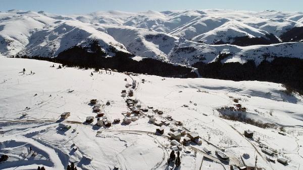 Kümbet Yaylası'nda kış güzelliği -5