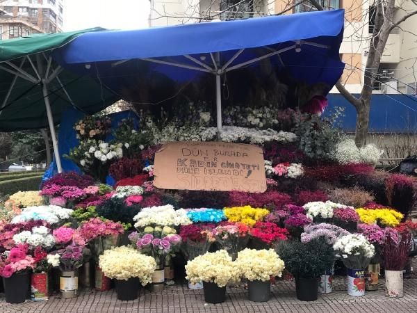 Kocası tarafından öldürülen çiçekçinin tezgahı sahipsiz kaldı -1