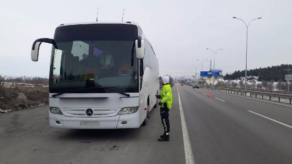 Şehirler arası otobüsler denetlendi, 351 araç trafikten men edildi -1