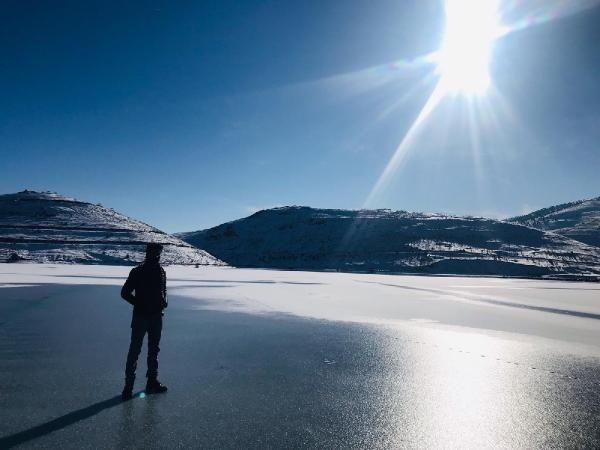 Gökçedere Gölü buz tuttu, çeşme ve dereler dondu -6