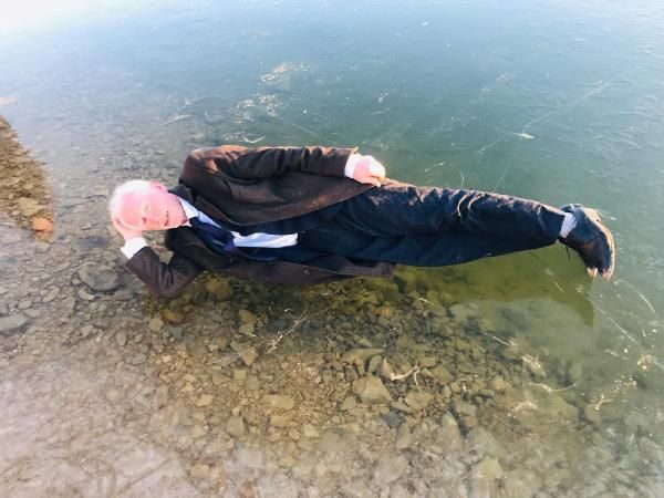 Gökçedere Gölü buz tuttu, çeşme ve dereler dondu -3