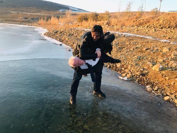 Gökçedere Gölü buz tuttu, çeşme ve dereler dondu -5