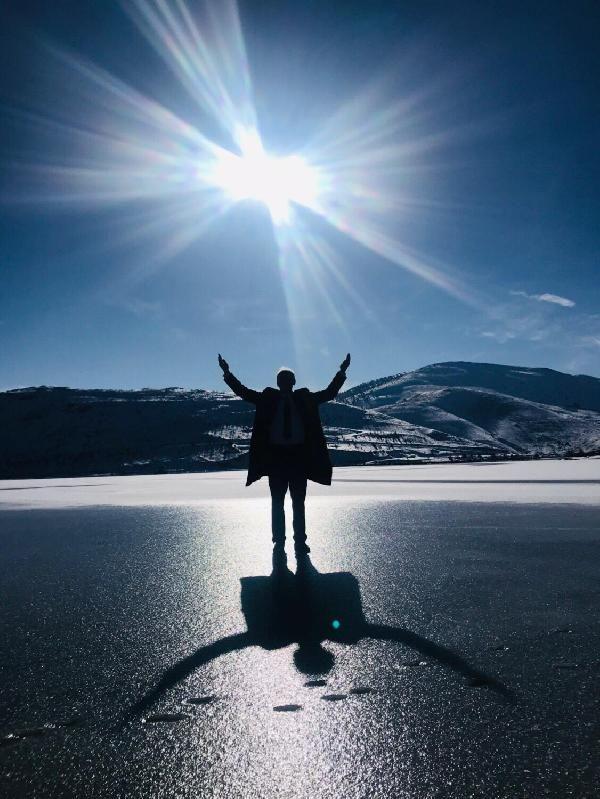 Gökçedere Gölü buz tuttu, çeşme ve dereler dondu -7