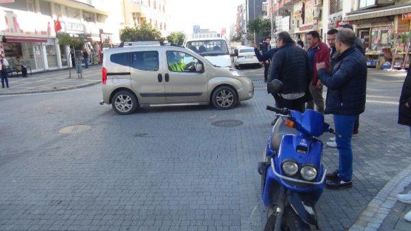 Kasksız motosiklet sürücüsü ölümden döndü -2
