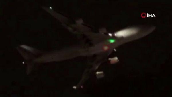 Kargo uçağını lazer ile böyle taciz ettiler -1